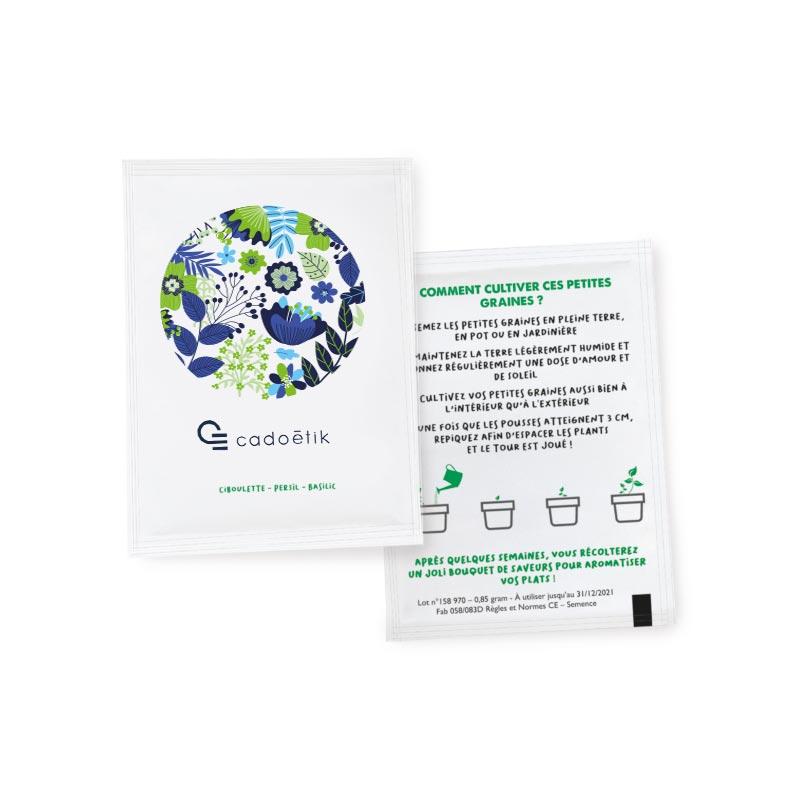 Plante publicitaire - Sachet de Graines publicitaires 60x80 mm Standard
