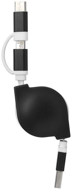 Objet promotionnel - Câble de chargement publicitaire 3 en 1 C One +