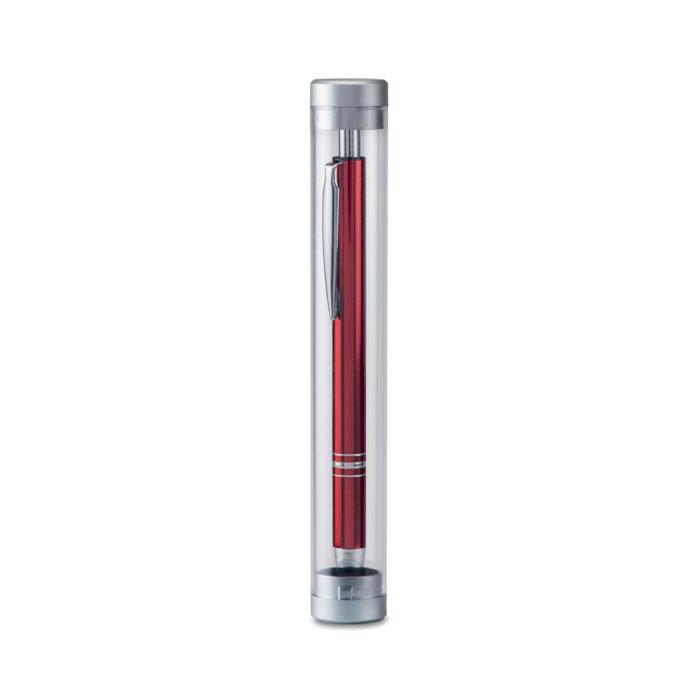 Tube transparent personnalisable Tube pour stylo - cadeau publicitaire