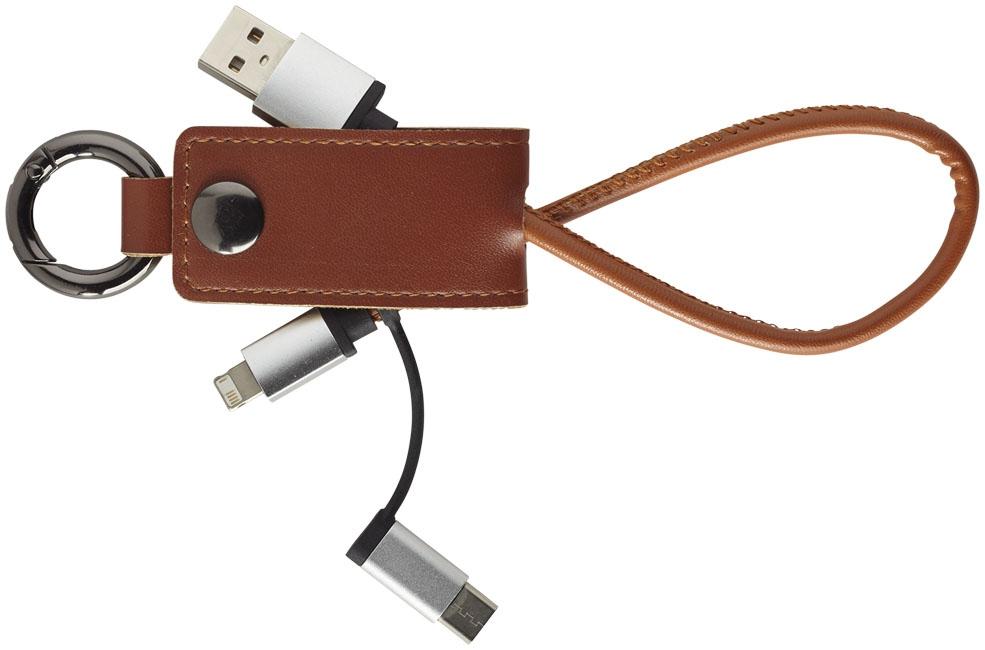 Câble de chargement publicitaire 3 en 1 Posh - accessoire high-tech publicitaire