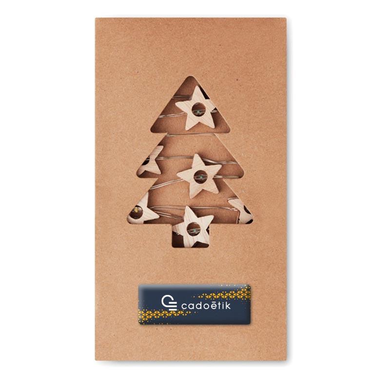 Guirlande en bois Milkay Way avec pochette en carton personnalisable