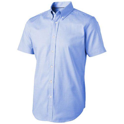 Chemise bleue publicitaire avec manches courtes