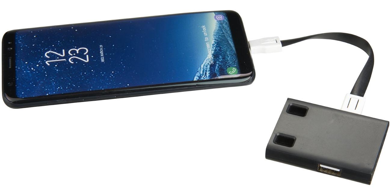 Hub publicitaire USB avec cables 3 en 1 Skilled - objet publicitaire