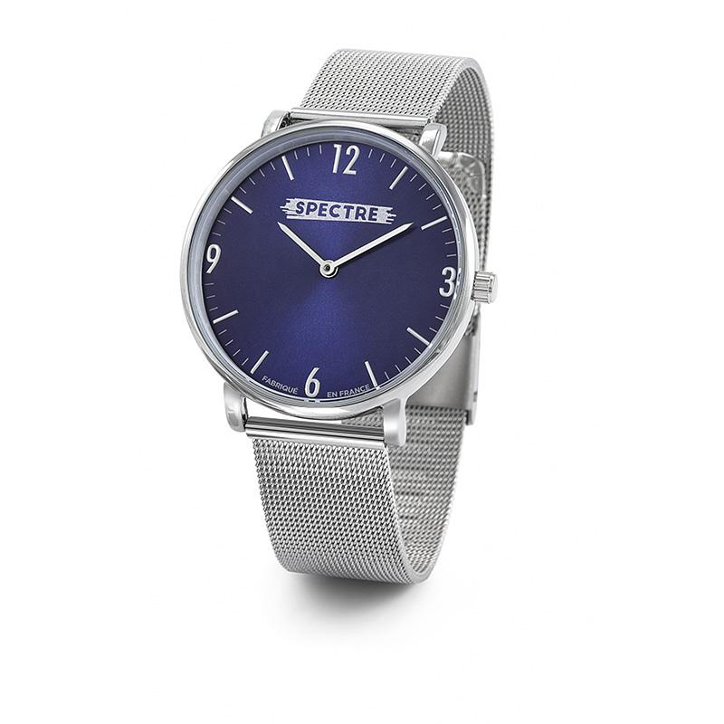 Montre personnalisable Tendance Spectre - cadeau d'entreprise - modèle rectangulaire bracelet façon cuir