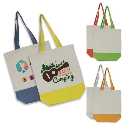 Sacs shopping publicitaires écologiques Duo Color Quadribag