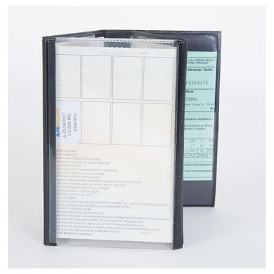 Goodies automobile - Porte-carte grise 4 volets et 1 transparent