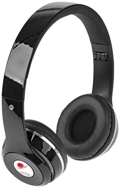 Casque publicitaire Bluetooth® pliable Cadence - blanc