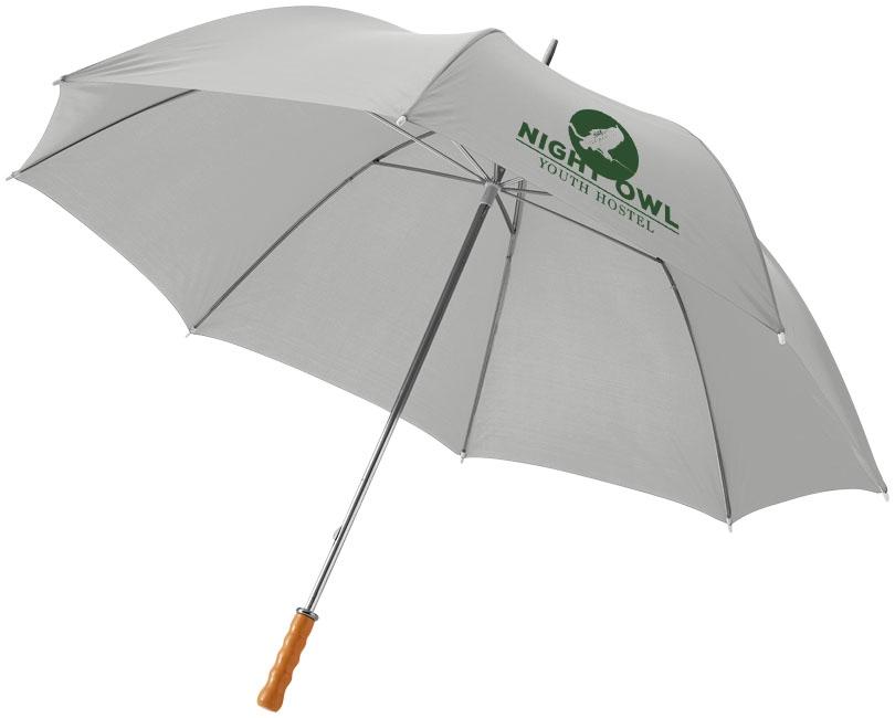 """Parapluie publicitaire golf 30"""" Karl - Parapluie personnalisé - gris"""