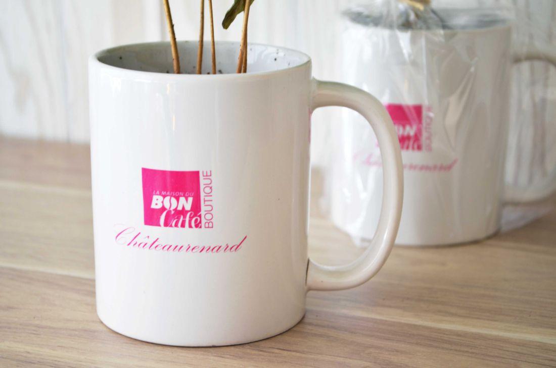 Caféier en mug personnalisable - objet publicitaire végétal
