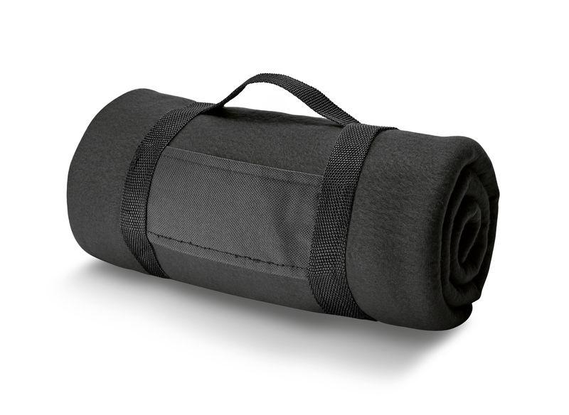 Couverture publicitaire Arcty - Plaid personnalisable - noir