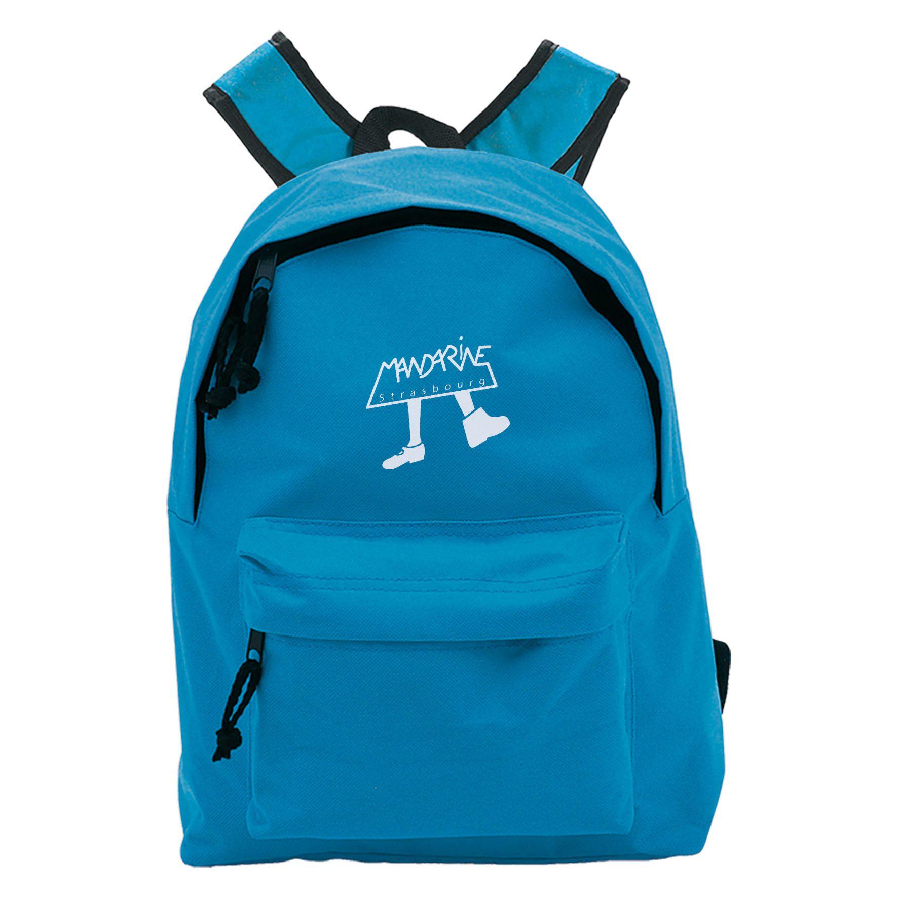 Petit sac à dos publicitaire Coloré - sac à dos personnalisable bleu