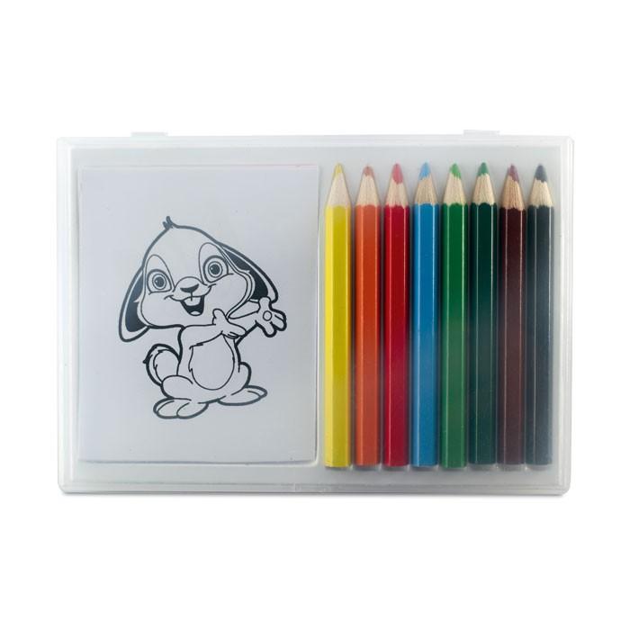 Set crayons de couleur en bois - cadeau publicitaire