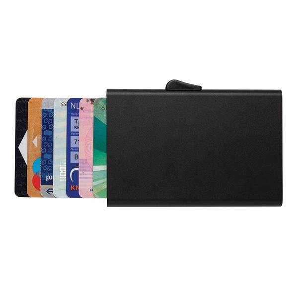 Porte-cartes en aluminium anti-RFID C-Secure Trust - Objet publicitaire