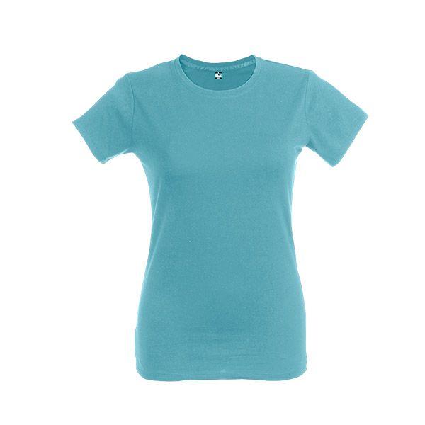 T-shirt personnalisé pour femme Ankara women couleur bleu d'eau