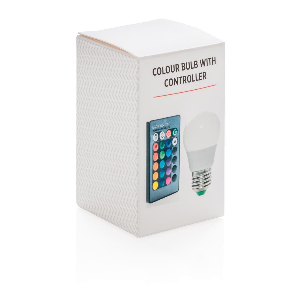 Objet publicitaire - Ampoule de couleur avec télécommande Festy