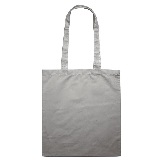 Sac shopping en coton publicitaire 140 g Cottonel + - sac shopping personnalisé blanc