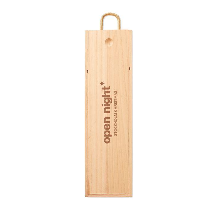Cadeau d'entreprise - coffret en bois  personnalisable pour bouteille de vin Vinbox