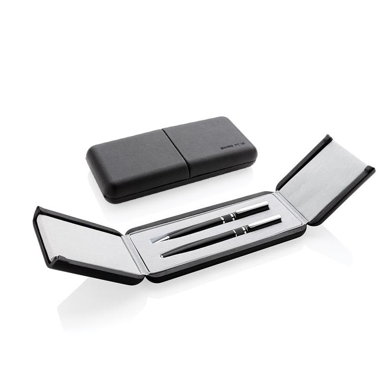 Packaging pour parure de stylos Swiss Peak en acier