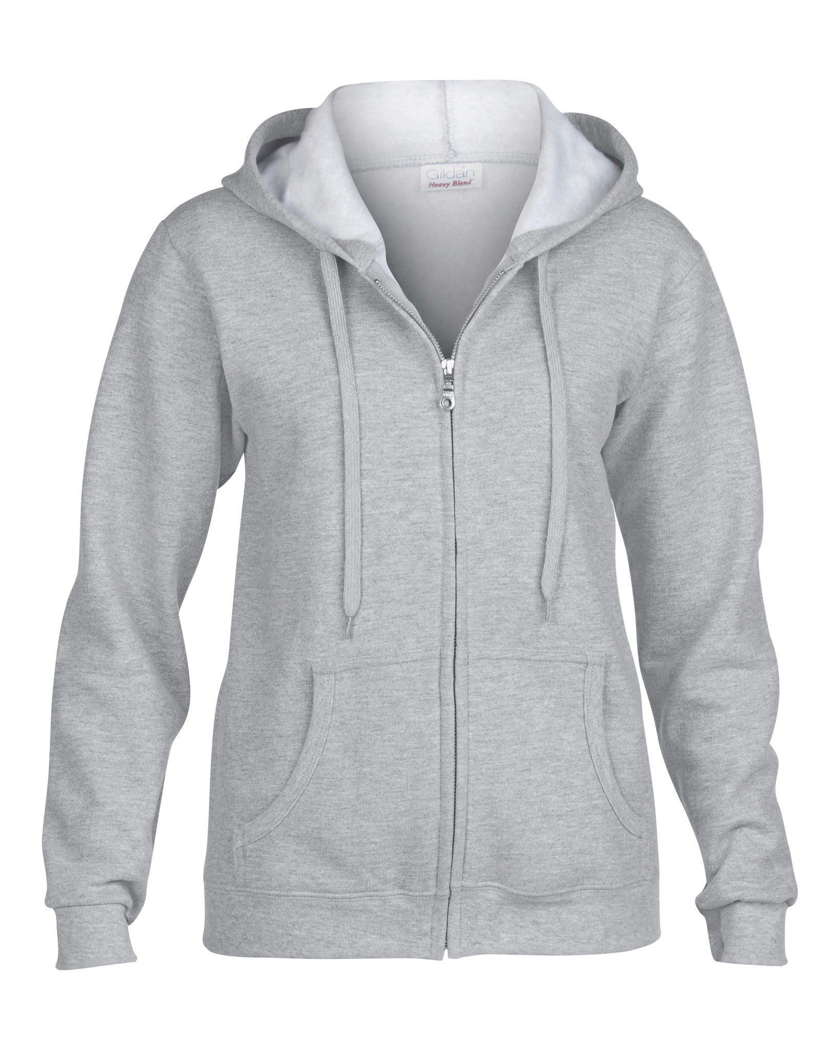 Sweat capuche grand zip femme