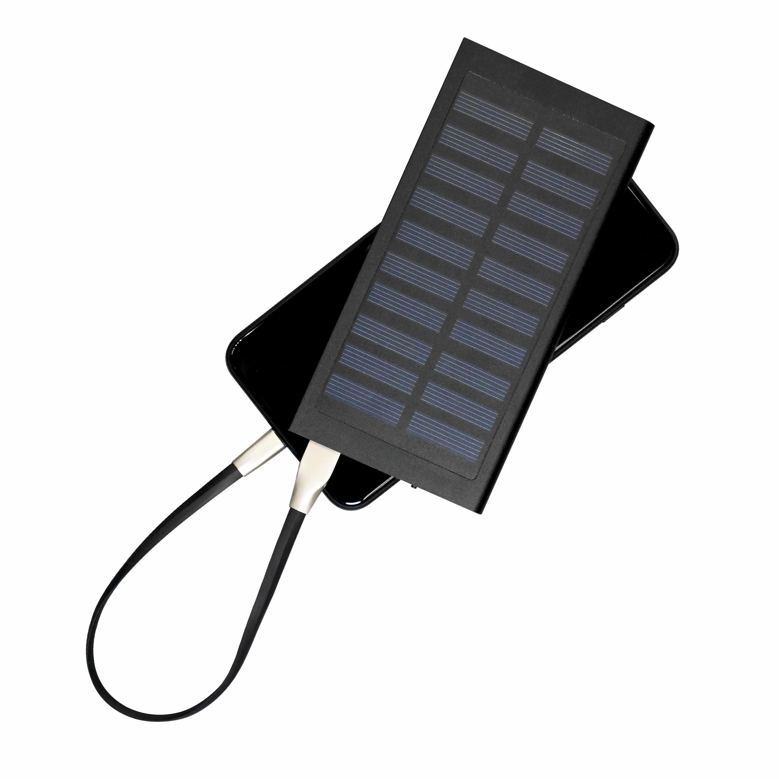 Chargeur solaire publicitaire écologique Sunpower - powerbank publicitaire