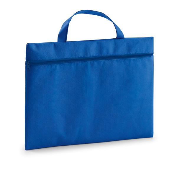 Porte-documents publicitaire écologique Slimy bleu - cadeau publicitaire écologique