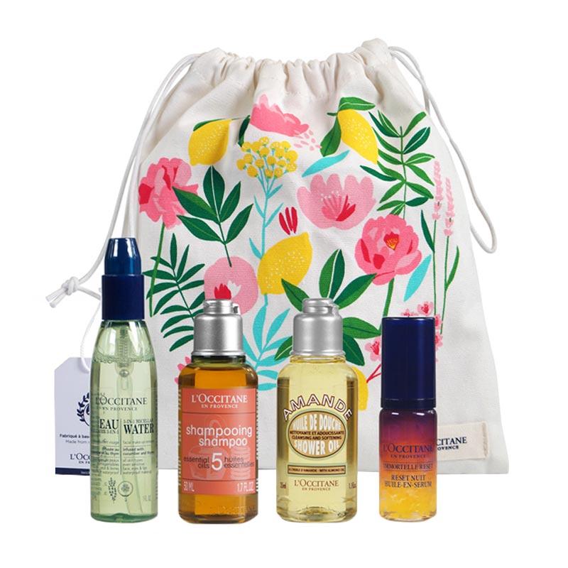 Trousse de voyage publicitaire cosmétiques Floral L'occitane