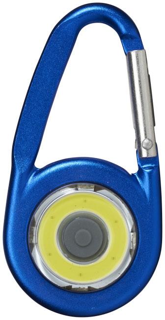 Mousqueton avec lampe publicitaire COB Eye - cadeau publicitaire