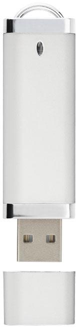 Clé USB publicitaire 4 Go Flat - Objet publicitaire  - blanc