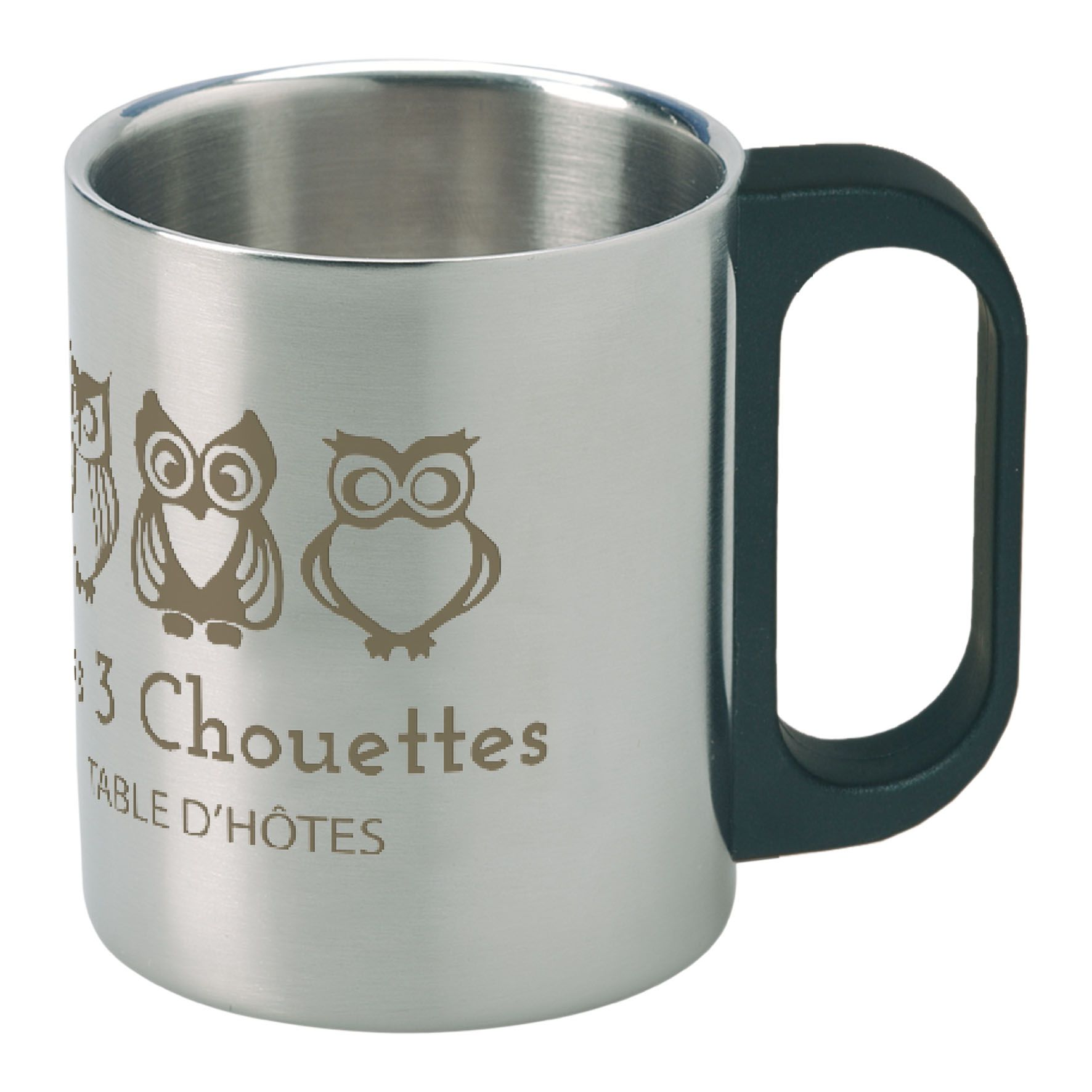 Objet publicitaire - Mug publicitaire isotherme inox 22cl Timbali