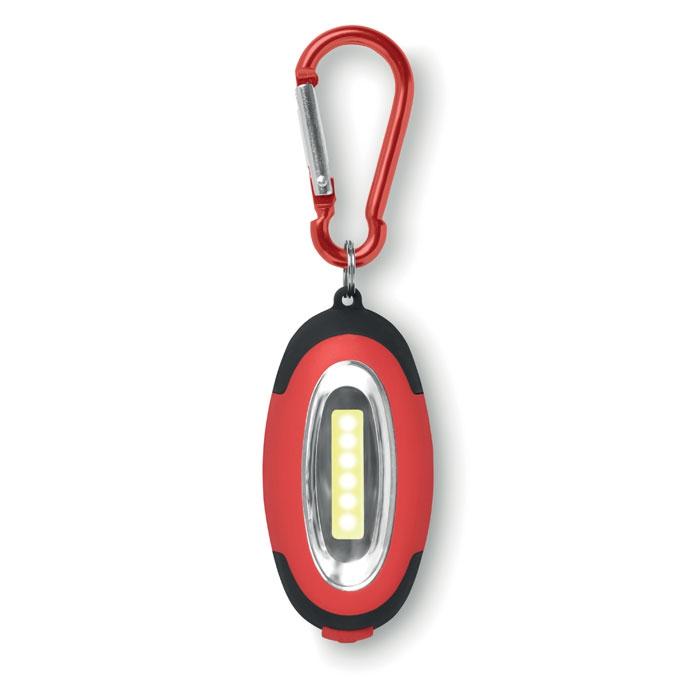 objet publicitaire - Mini-lampe COB avec mousqueton Cobie - noir