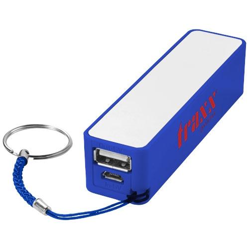Batterie de secours publicitaire 2000mAh Jive bleu - Objet publicitaire