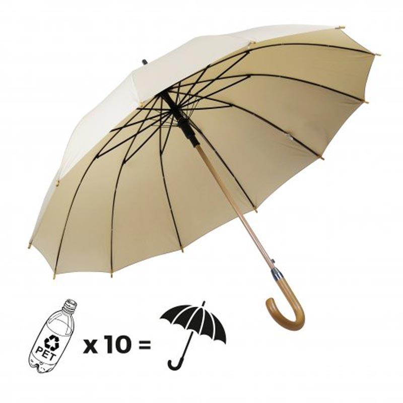 Parapluie ville Chiccity beige à personnaliser