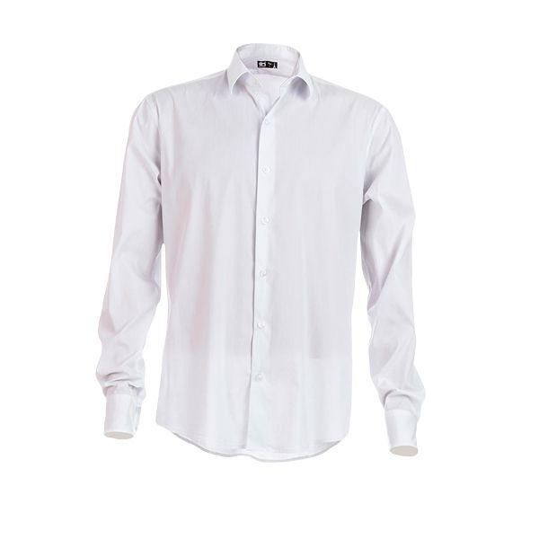 Chemise publicitaire en popeline pour homme Parisien blanche - textile publicitaire