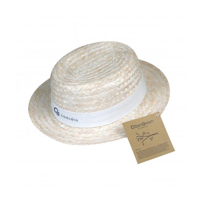 chapeau publicitaire - canotier personnalisable écologique