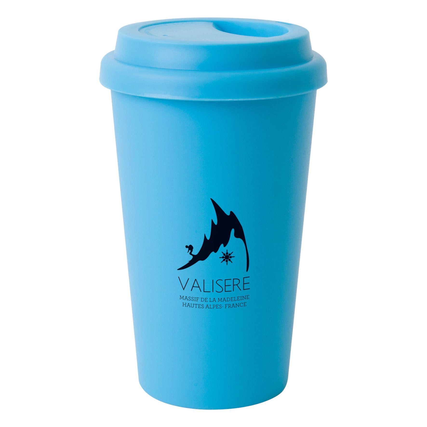 Mug publicitaire isotherme 40 cl Manhattan - Mug personnalisable - noir