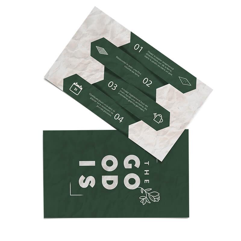 Carte à graines publicitaire - Carte de visite à planter Teki