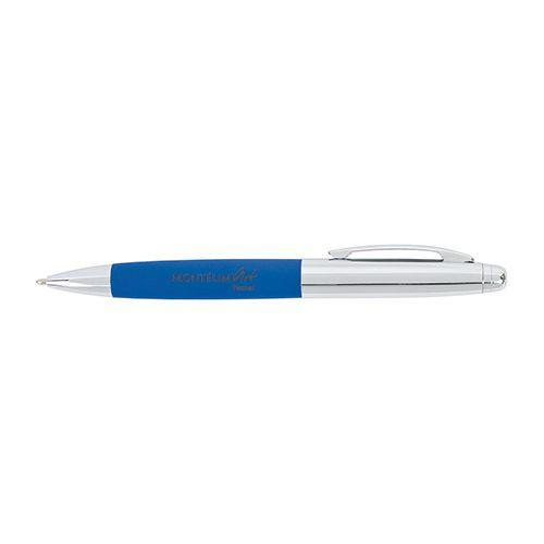 Stylo bille publicitaire bois métal BM - stylo personnalisé bleu