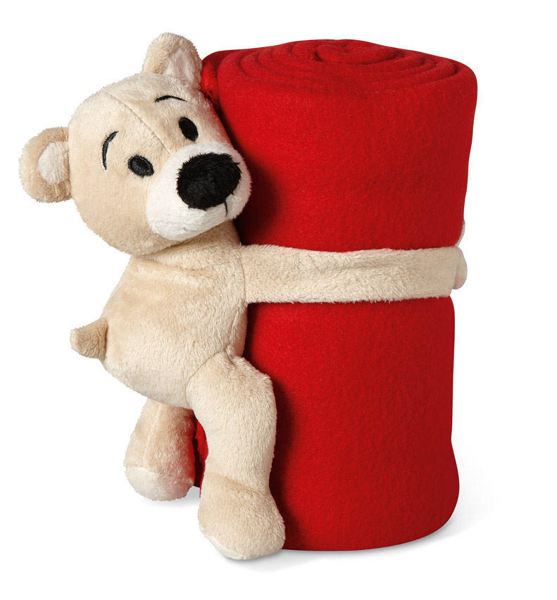 cadeau d'entreprise de fin d'année - couverture polaire avec ours Manta