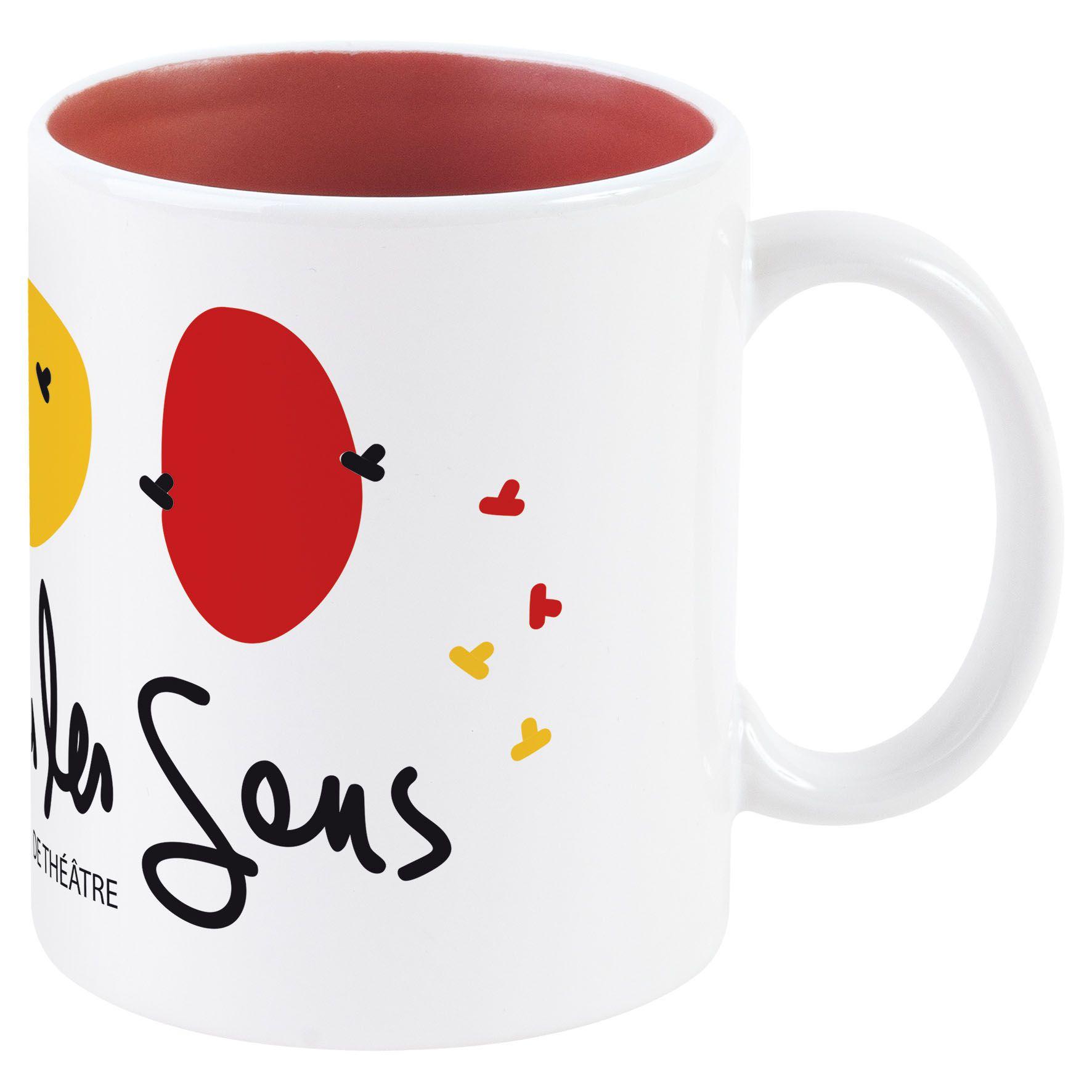 Mug publicitaire Bicolore pour sublimation 31 cl - mug personnalisable - bleu