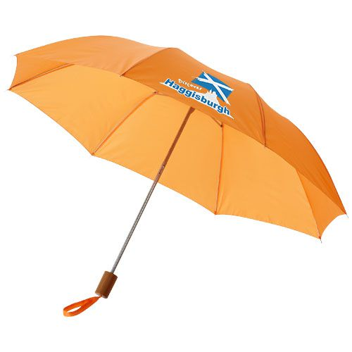 Parapluie publicitaire orange