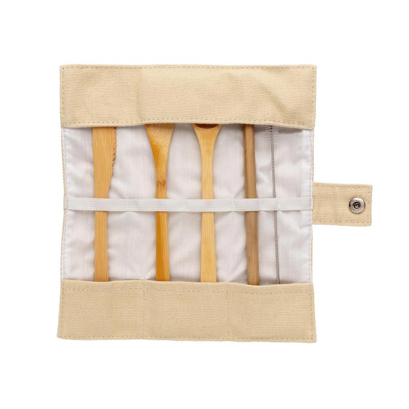 Cadeau publicitaire écologique - Set de couverts en bambou Picwood