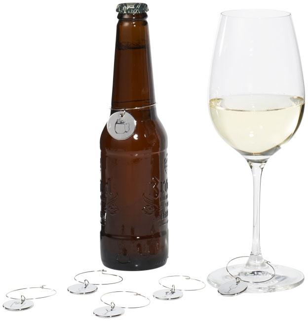 Bijoux publicitaires pour verres et bouteilles Charms Marla - cadeau d'entreprise