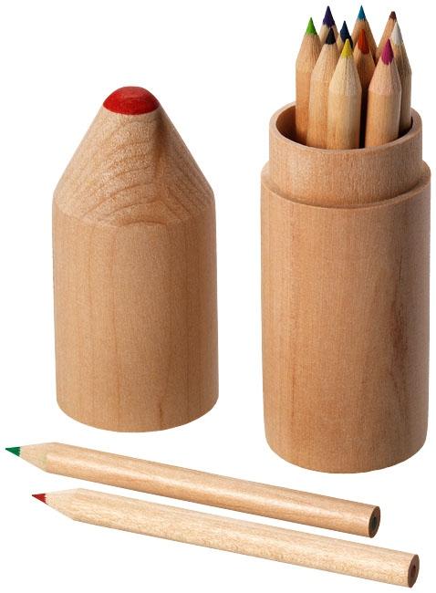 Set de 12 crayons de couleur publicitaires - cadeau publicitaire enfants