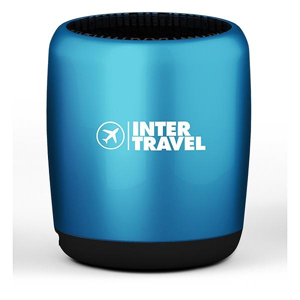 Enceinte personnalisable Tiny bleue - cadeau d'entreprise high-tech