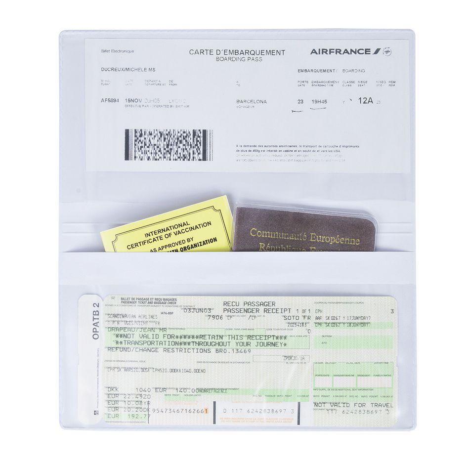 Pochette de voyage publicitaire Travel - Goodies fabriqué en france