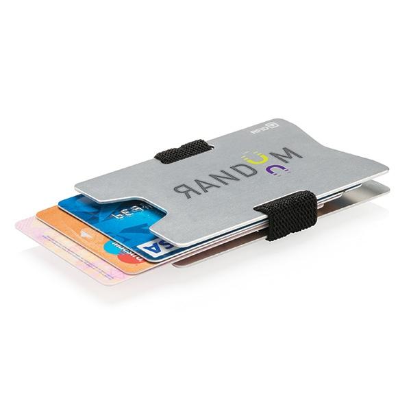 Cadeau publicitaire - Porte-cartes publicitaire minimaliste RFID