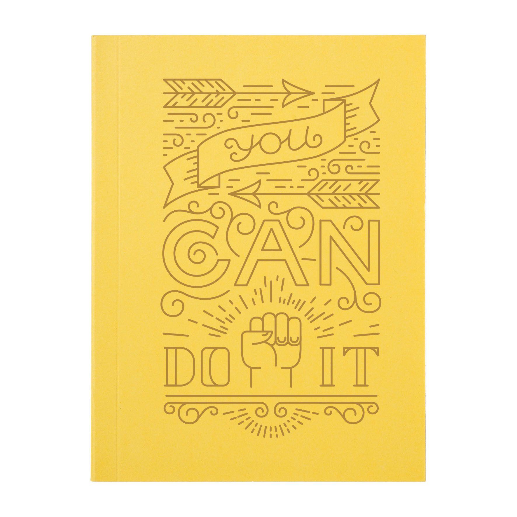 Carnet publicitaire A6 Inspiration - Objet publicitaire - jaune