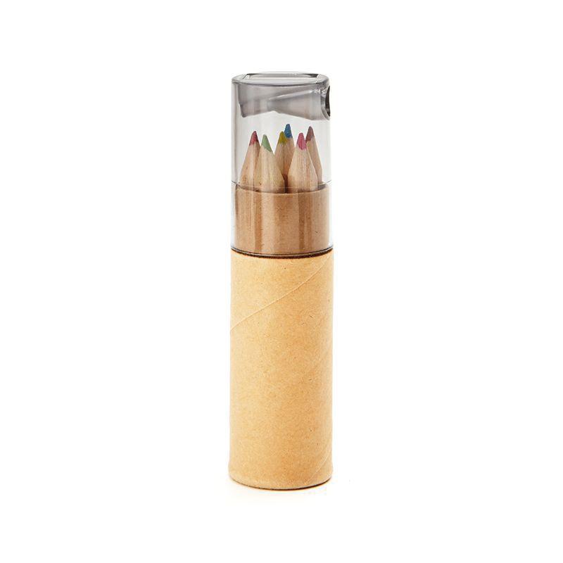 Objet publicitaire enfants - Tube de 6 crayons de couleur Petit Lambut