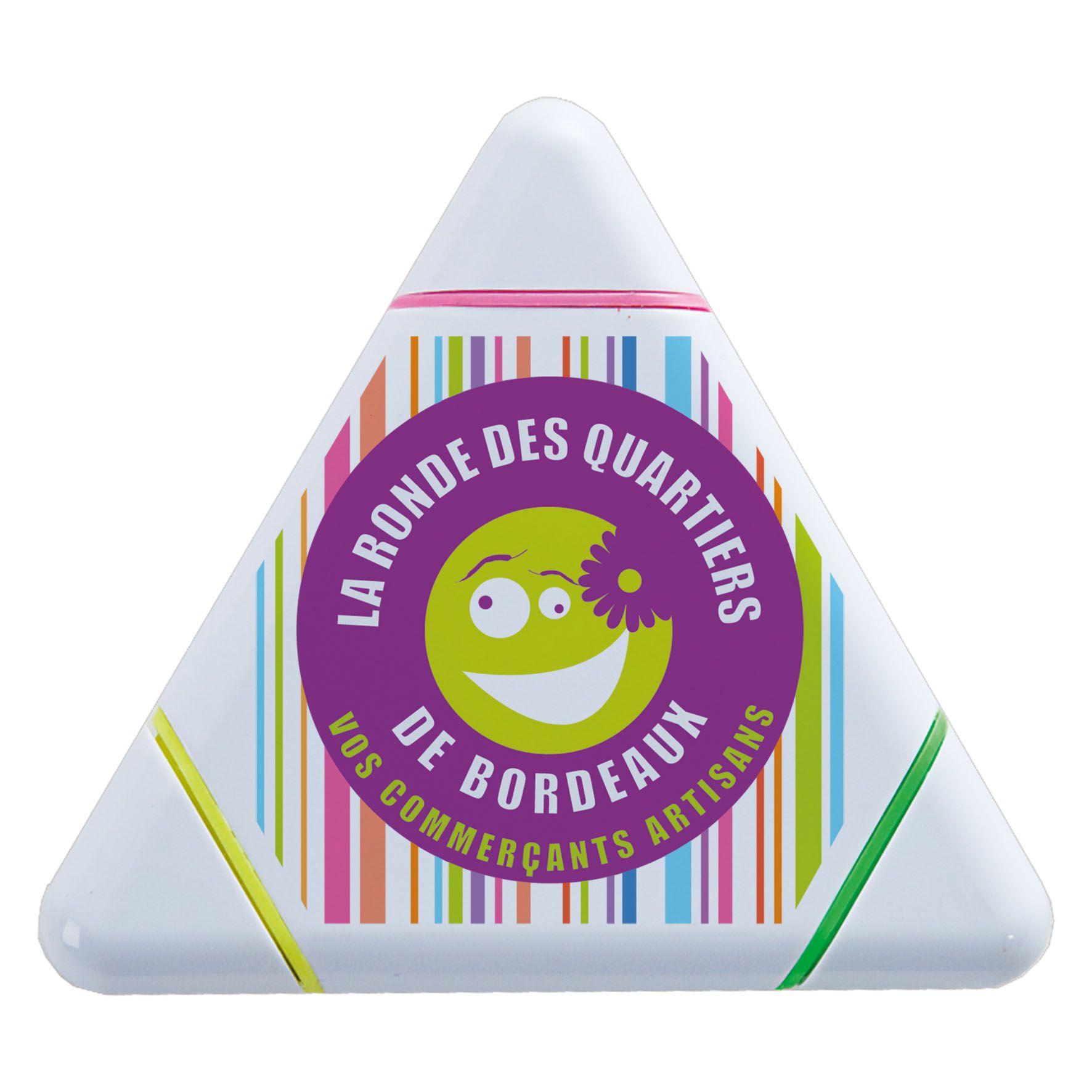 Goodies - Surligneur personnalisable 3 couleurs Isocèle