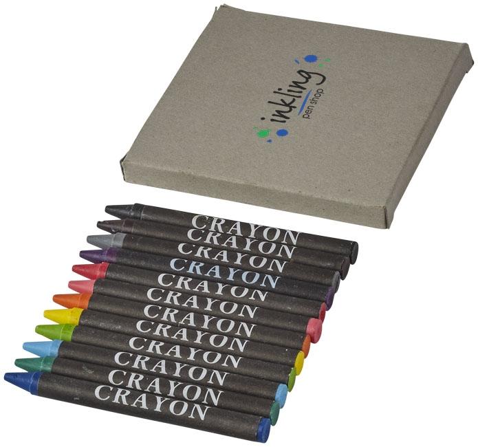 Set de 12 crayons gras Brandt - crayons de couleur publicitaires